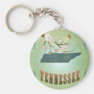 Tennessee State Map – Green Keychain