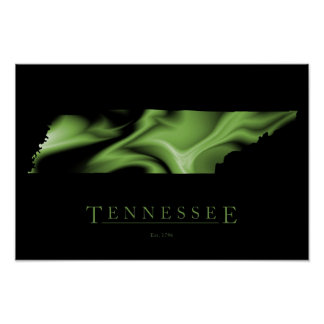 Tennessee State Map Image Poster