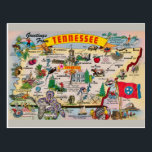 "Tennessee State Map Postcard<br><div class=""desc"">Tennessee State Map Postcard</div>"