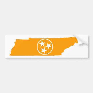 Tennessee State Orange Bumper Sticker