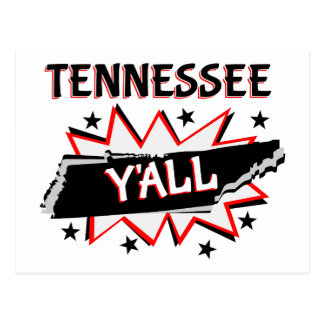 Tennessee State Pride Y'all Postcard