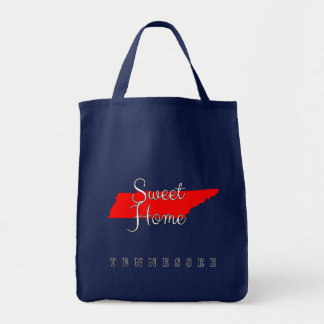 Tennessee Sweet Home Tennessee Grocery Tote Bag