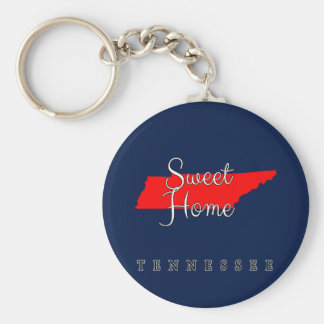 Tennessee Sweet Home Tennessee Basic Round Button Keychain