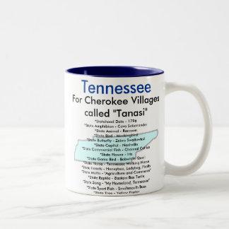 Tennessee Symbols & Map Coffee Mugs