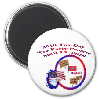 Tennessee Tax Day Tea Party Protest 2 Inch Round Magnet