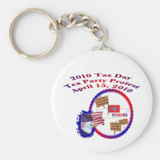Tennessee Tax Day Tea Party Protest Keychain