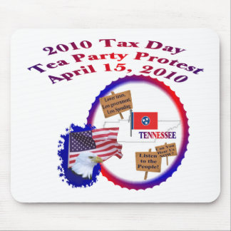 Tennessee Tax Day Tea Party Protest Mouse Pad