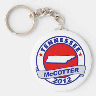 Tennessee Thad McCotter Basic Round Button Keychain