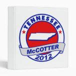 Tennessee Thad McCotter Vinyl Binder