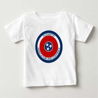 Tennessee The Volunteer State Personalized Flag Baby T-Shirt