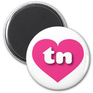 Tennessee tn hot pink heart 2 inch round magnet