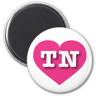 Tennessee TN hot pink heart Refrigerator Magnet