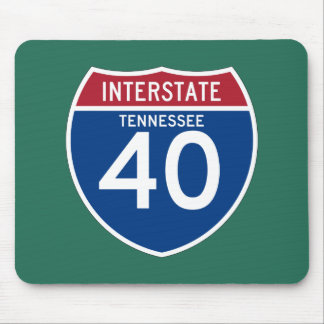Tennessee TN I-40 Interstate Highway Shield - Mouse Pad