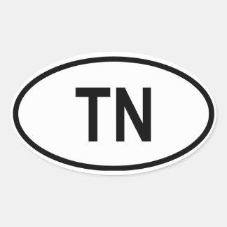 """Tennessee """"TN"""" Oval Sticker"""