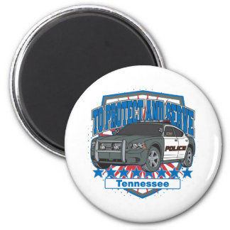 Tennessee To Protect and Serve Police Squad Car Magnet