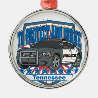 Tennessee To Protect and Serve Police Squad Car Metal Ornament