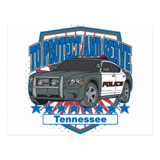 Tennessee To Protect and Serve Police Squad Car Postcard