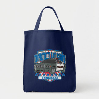 Tennessee To Protect and Serve Police Squad Car Tote Bag