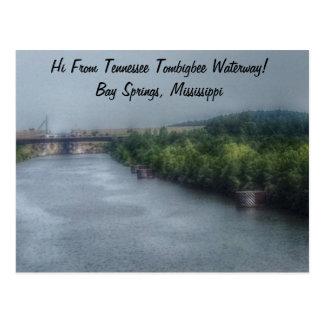 Tennessee Tombigbee Waterway, Bay Springs, MS Post Card