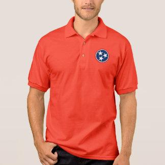Tennessee Tri Star Flag Volunteers Polo Shirt