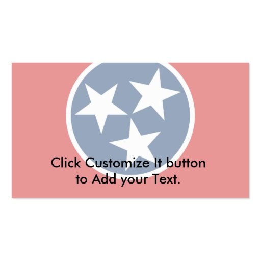 Tennessee, United States flag Double-Sided Standard Business Cards (Pack Of 100)