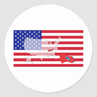 Tennessee, USA Classic Round Sticker
