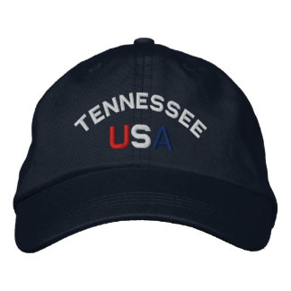 Tennessee USA Embroidered Navy Blue Hat Embroidered Hats