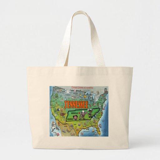 Tennessee USA Map Bag
