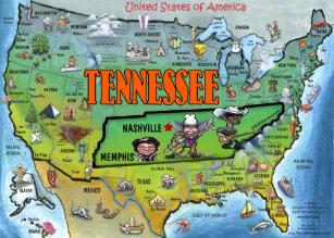Nashville Usa Postcards Zazzle - Nashville-tennessee-on-us-map