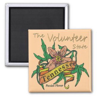 Tennessee Volunteer State Passion 2 2 Inch Square Magnet