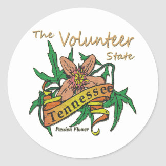 Tennessee Volunteer State Passion 2 Classic Round Sticker