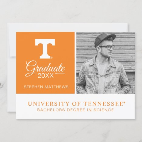 Tennessee Volunteers Graduate Invitation