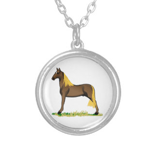 Tennessee Walker Round Pendant Necklace