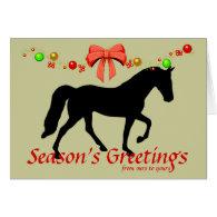 Tennessee Walker Season's Greetings Christmas Card