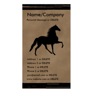 Tennessee Walker Silhouette Personal Business Double-Sided Standard Business Cards (Pack Of 100)