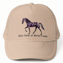 Tennessee Walking Horse-Add your farm name Trucker Hat