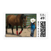 Tennessee Walking Horse and Girl Postage