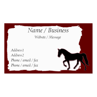 Tennessee Walking Horse Banner Profile Double-Sided Standard Business Cards (Pack Of 100)