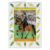 Tennessee Walking Horse Blank Christmas Card