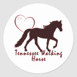Tennessee Walking Horse Hearts Classic Round Sticker