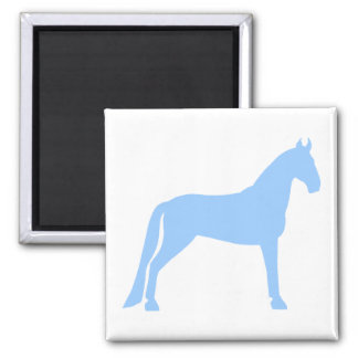 Tennessee Walking Horse light blue Refrigerator Magnet