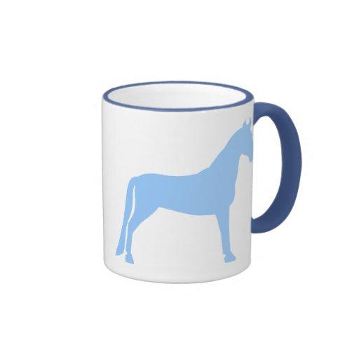 Tennessee Walking Horse (light blue) Ringer Coffee Mug