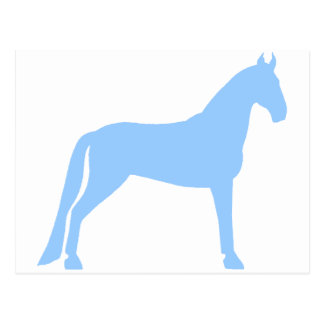 Tennessee Walking Horse (light blue) Postcard