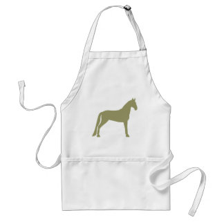 Tennessee Walking Horse (olive green) Adult Apron