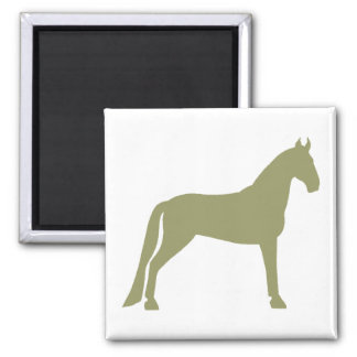 Tennessee Walking Horse olive green Refrigerator Magnet