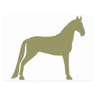 Tennessee Walking Horse (olive green) Postcard