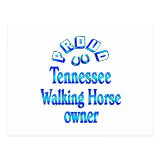 Tennessee Walking Horse Owner Postcard