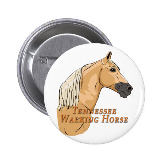 Tennessee Walking Horse Palomino Pinback Button