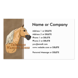 Tennessee Walking Horse Palomino Profile Double-Sided Standard Business Cards (Pack Of 100)