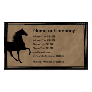 Tennessee Walking Horse Silhouette Personal Double-Sided Standard Business Cards (Pack Of 100)